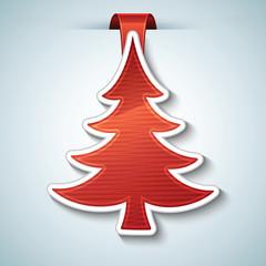 Christmas tree vector sticker