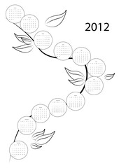 Calendar tree for year 2012
