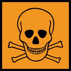 Gefahrstoffzeichen Giftige Stoffe Symbol Gefahrgut