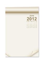 Calendar on note paper