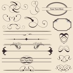Calligraphic Page Decoration & Design Elements