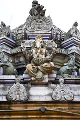 hindu god ganesha in hindu temple, sri lanka