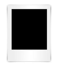balnk photo frame isolated on white