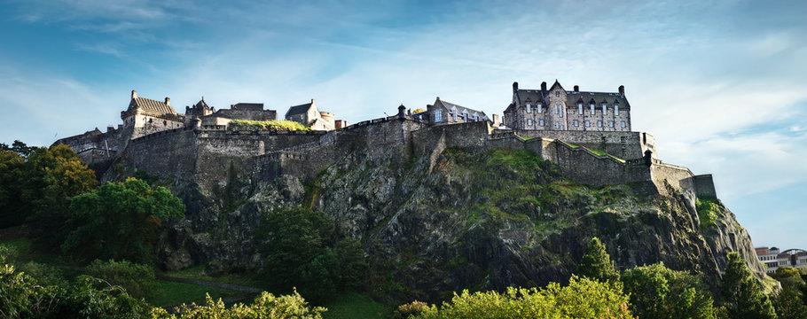 Edinburgh castle wide panorama, Scotland, UK