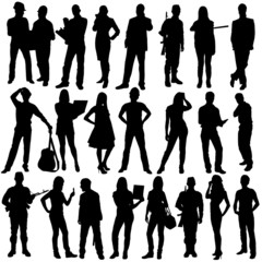Poster Chambre d enfant 23 people silhouettes