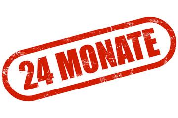 Grunge Stempl rot 24 MONATE