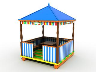 Colorful plastic garden furniture  №1