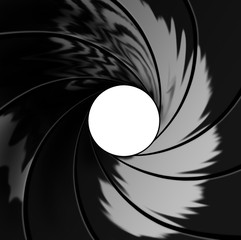 Poster Spiral inside barrel illustration