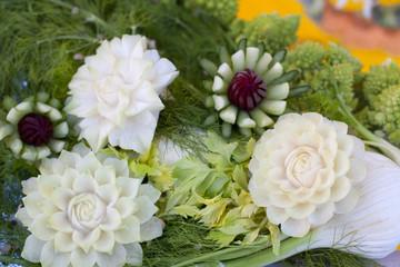 sculpture en légumes