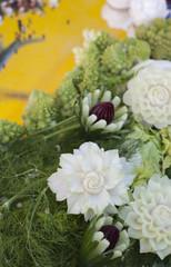 bouquet de légumes sculptés