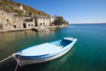 Boat in fishing village
