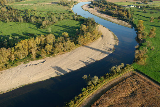Photo aérienne de la Loire
