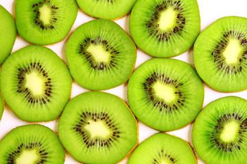 Image of sliced kiwi background