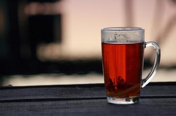 Чашка чая на свежем воздухе