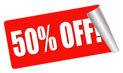 sale - 50 percent off