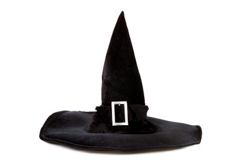 Black fabric witch hat for Halloween