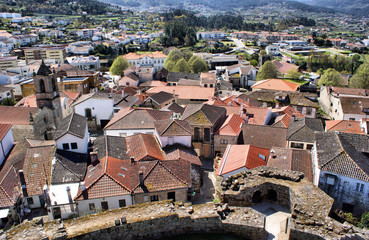 View of Melgaco from castle tower