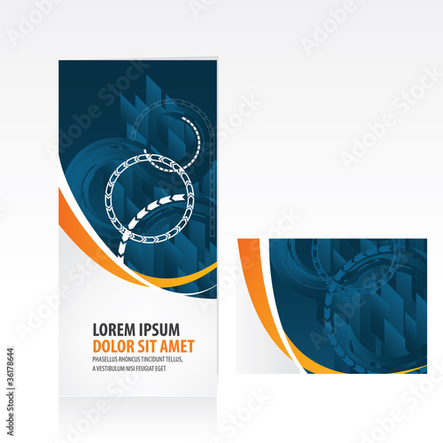 business tri fold brochure layout stock image and royalty free