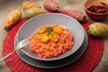risotto ai fichi d'india