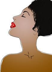 profilo donna afroamericana
