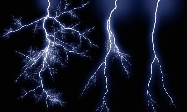 Various types of lightning