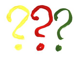 Три вопроса трех цветов