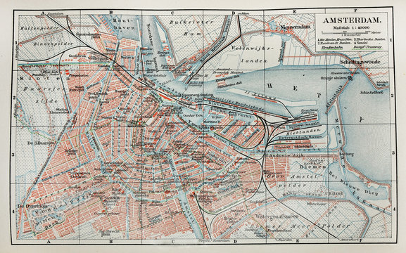 Old Amsterdam  map