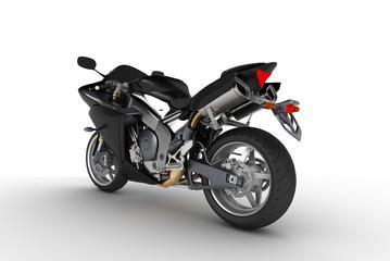 Black motorkibe on white background