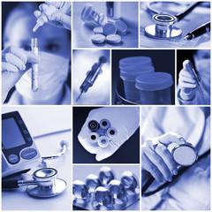Fototapeta Medycyna - kolaż obraz