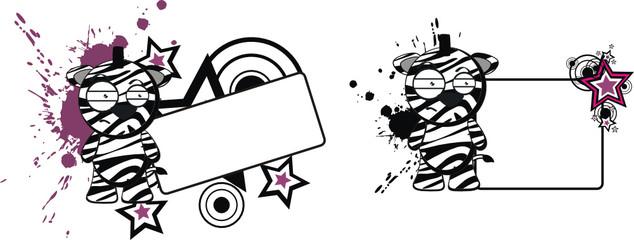 zebra funny cartoon copyspace8