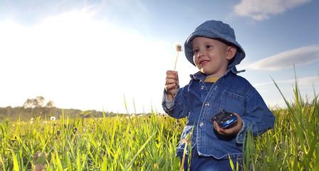 Little Boy on Meadow