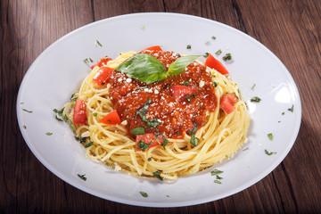 Spaghetti Bolognaise, Motiv für Buch, quer solo