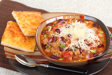Chili With Melted Cheese
