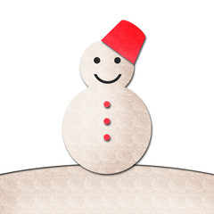 snowman watercolor isolated on white