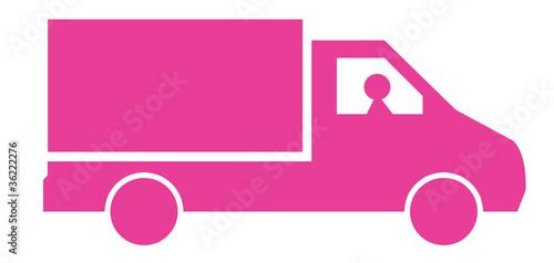 camion livraison rose photo libre de droits sur la banque d 39 images image 36222276. Black Bedroom Furniture Sets. Home Design Ideas