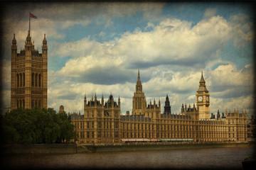 Westminstre, Londra, texture retro