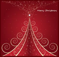 stylized Christmas tree on