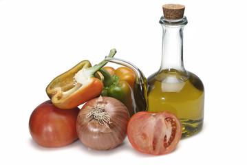 Ingredientes para el gazpacho.