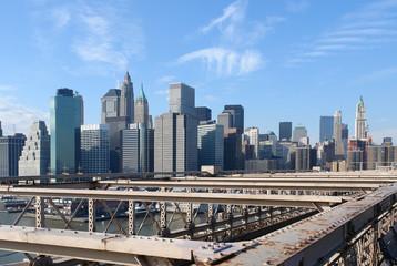 New York skyline in sunny ambiance
