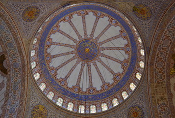 Top off the blue church in Istanbul