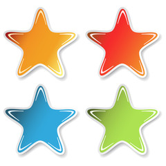 Vector star stickers
