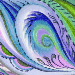 Picture, pastel, abstract