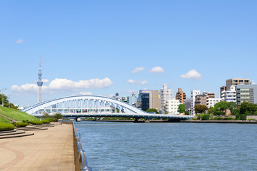 Tokyo Sky Tree and Sumida river