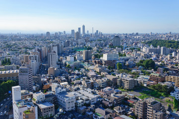 Keuken foto achterwand Tokyo Cityscape towards Ikebukuro in Tokyo
