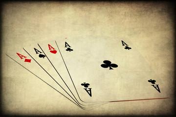 Poker d'assi, texture retro