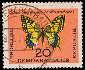 GERMANY - CIRCA 1960s: Schwalbenschwanz-Papilio machaon L