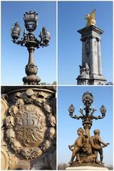 Postcard Paris - Bridge Alexander III