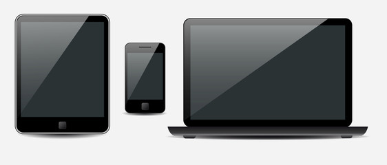 Vector Laptop, tablet computer and mobile phone