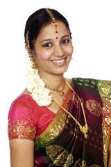 Smiling traditional Indian woman