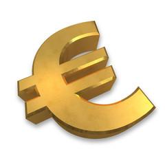 goldenes euro symbol 3d